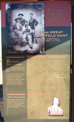 The Great Buffalo Hunt Marker image. Click for full size.