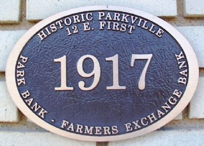 Park Bank - Farmers Exchange Bank Marker image. Click for full size.