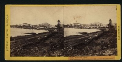 Meadow Lake in 1868 image. Click for full size.
