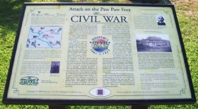 Attack on the Paw Paw Fort Marker image. Click for full size.