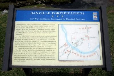Danville Fortifications CWT Marker image. Click for full size.