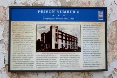 Prison Number 6 CWT Marker image. Click for full size.