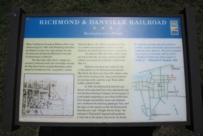Richmond & Danville Railroad CWT Marker image. Click for full size.