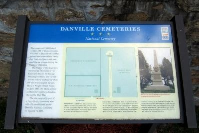 Danville Cemeteries CWT Marker image. Click for full size.