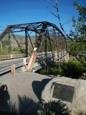 The Current Parker Truss Bridge and Toll Bridge Marker image. Click for full size.