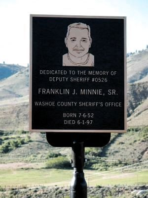 Franklin J. Minnie, Sr. Memorial Plaque image. Click for full size.
