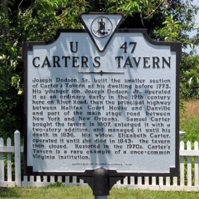 Carter's Tavern Marker image. Click for full size.