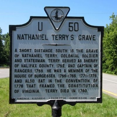 Nathaniel Terry's Grave Marker image. Click for full size.