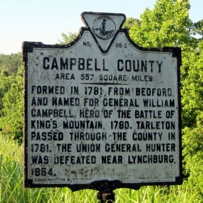 Campbell County County Marker (obverse) image. Click for full size.