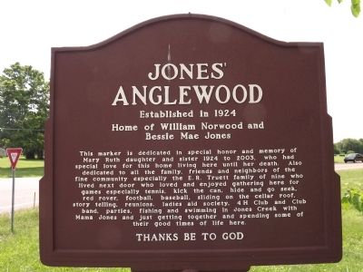 Jones' Anglewood Marker (obverse) image. Click for full size.