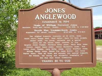 Jones' Anglewood Marker (reverse) image. Click for full size.
