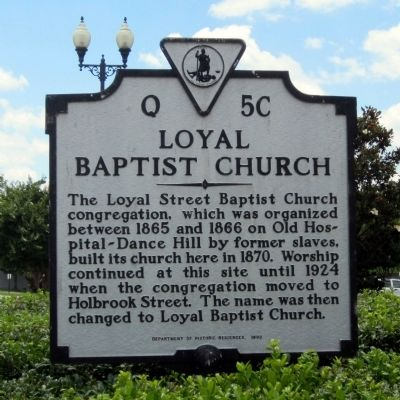 Loyal Baptist Church Marker image. Click for full size.