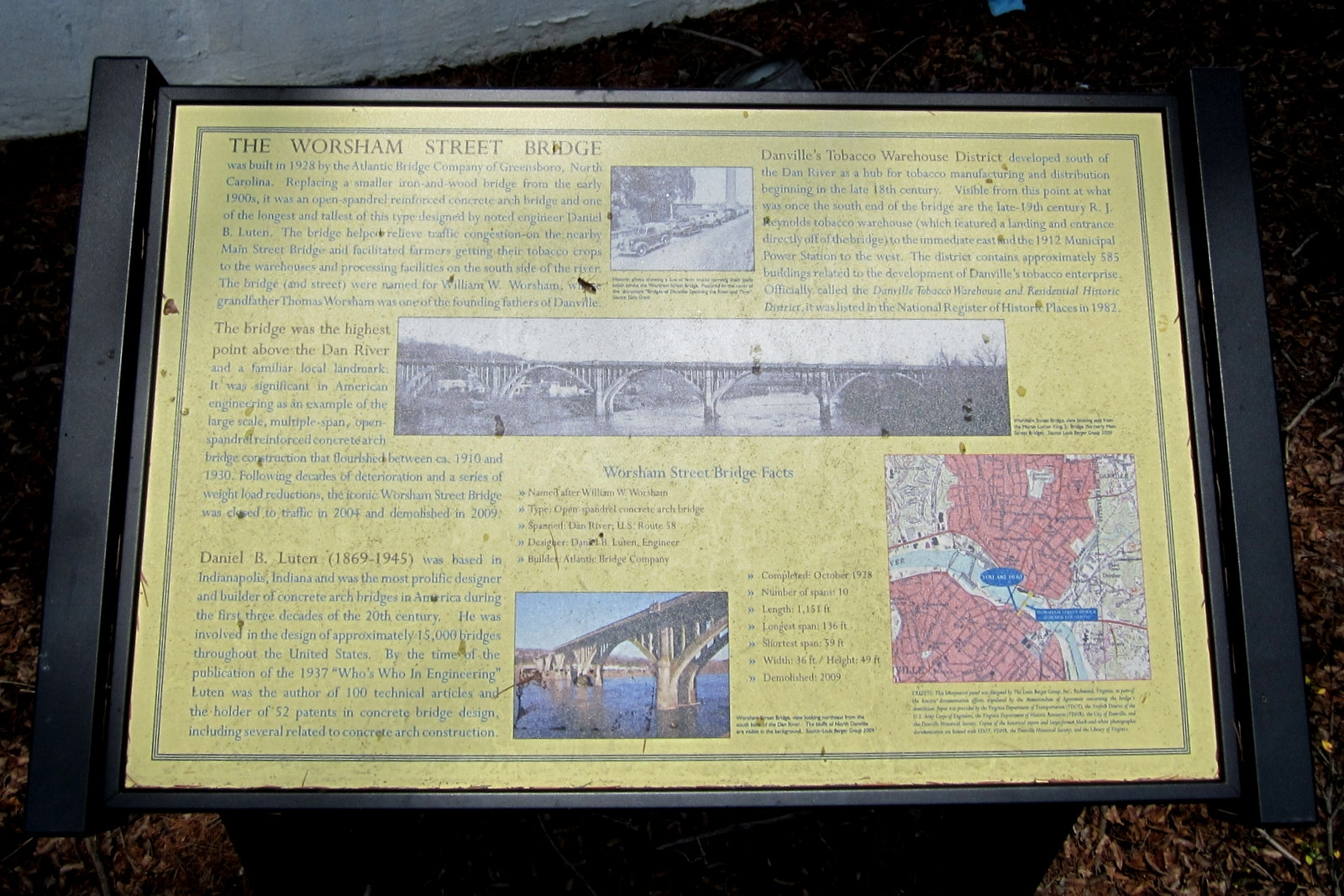 The Worsham Street Bridge Marker