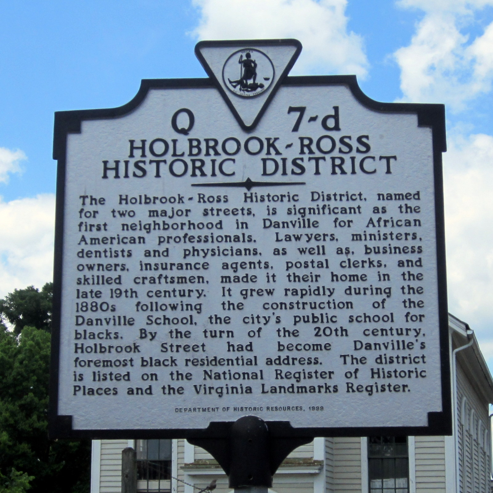 Holbrook-Ross Historic District Marker