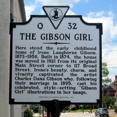 The Gibson Girl Marker image. Click for full size.