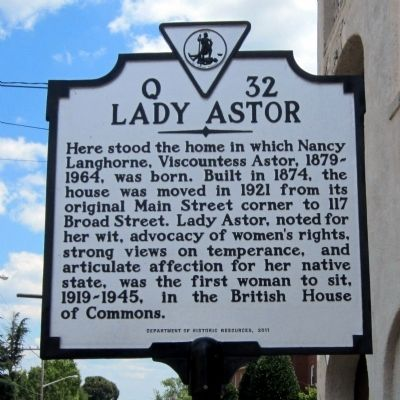 Lady Astor Marker image. Click for full size.