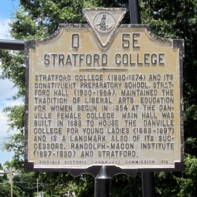 Stratford College Marker image. Click for full size.
