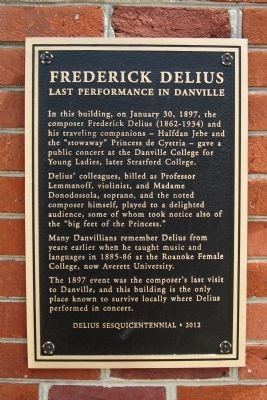 Frederick Delius Marker image. Click for full size.