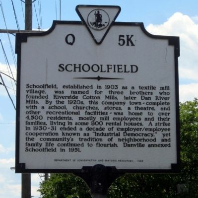 Schoolfield Marker image. Click for full size.
