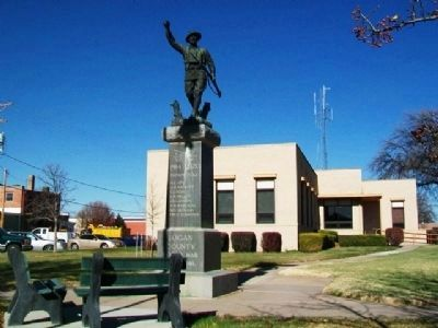 Logan County War Memorial image. Click for full size.
