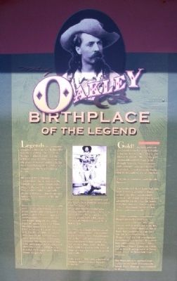 Oakley: Birthplace of the Legend Marker image. Click for full size.