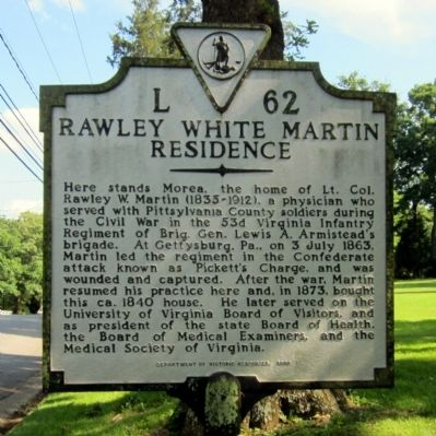Rawley White Martin Residence Marker image. Click for full size.