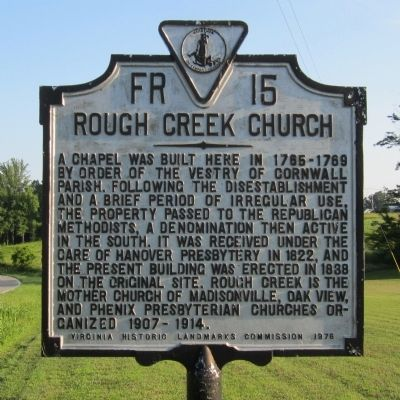 Rough Creek Church Marker image. Click for full size.