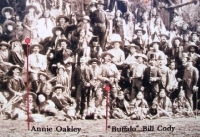 Photo on Annie Oakley Marker image. Click for full size.