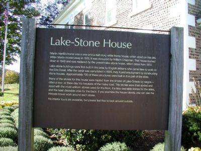 Lake Stone House Marker image. Click for full size.