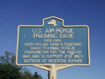 U.S. Air Force Training Base Marker image. Click for full size.