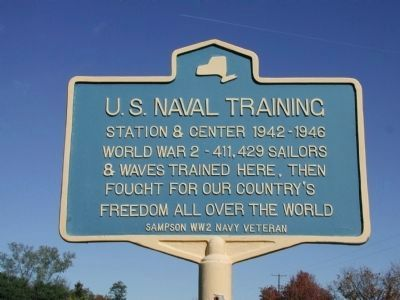 U. S. Naval Training Station & Center 1942-1946 Marker image. Click for full size.