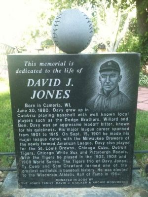 David J. Jones Marker image. Click for full size.