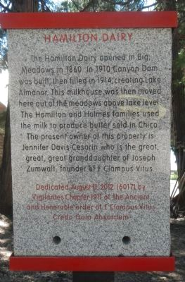 Hamilton Dairy Marker image. Click for full size.