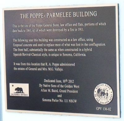 The Poppe-Parmelee Building Marker image. Click for full size.