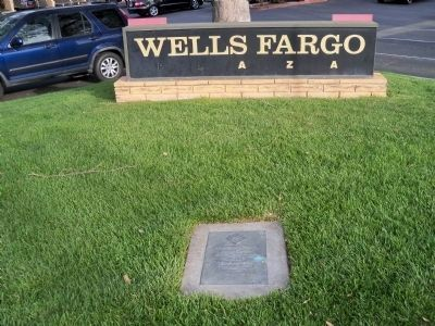 Location of Pirates Marker in front of Wells Fargo Sign image. Click for full size.