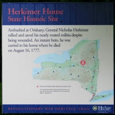 Herkimer Home State Historic Site Marker image. Click for full size.
