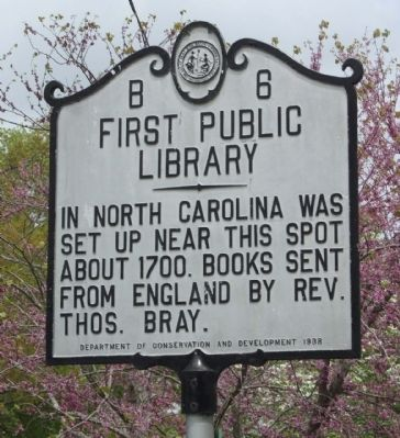 First Public Library Marker image. Click for full size.
