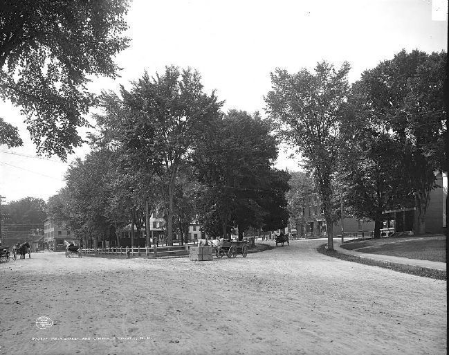 Main Street and Common, Plymouth, N.H. (1908) image. Click for full size.