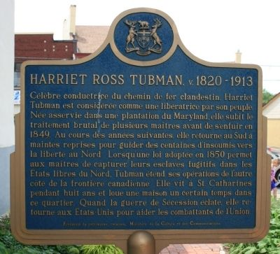 Harriet Ross Tubman c. 1820-1913 Marker image. Click for full size.
