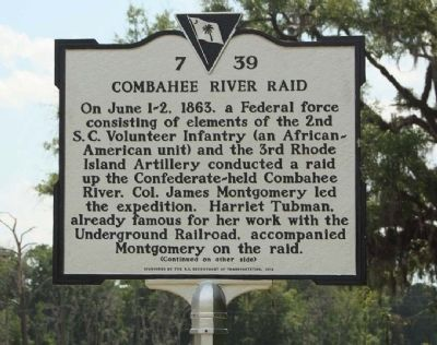 Combahee River Raid Marker image. Click for full size.