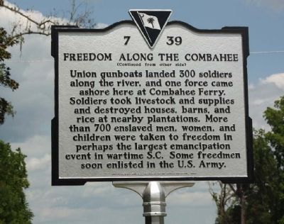 Freedom Along The Combahee Marker image. Click for full size.