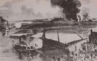 Raid of Second South Carolina Volunteers among the rice plantations of the Combahee sketch image. Click for full size.