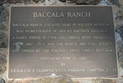 Baccala Ranch Marker image. Click for full size.