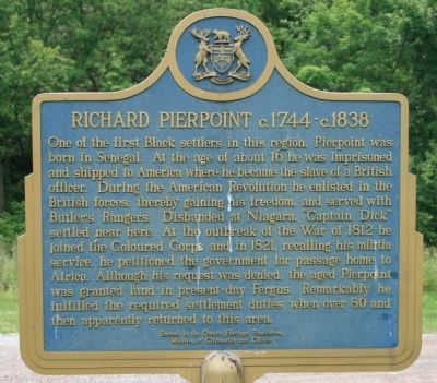 Richard Pierpoint c.1744-c.1838 Marker image. Click for full size.