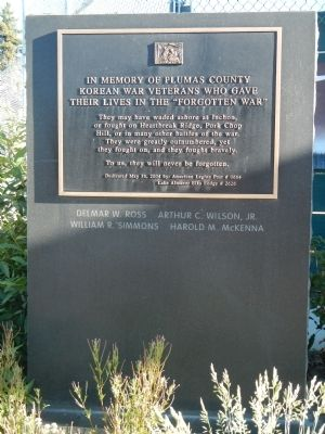 Plumas County Korean War Memorial Marker image. Click for full size.