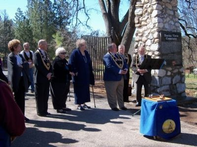 Buena Vista Cemetery Marker Dedication Team image. Click for full size.
