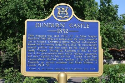 Dundurn Castle Marker image. Click for full size.