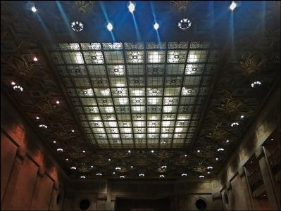 Ceiling of Main Entry Chamber of Gulf Building -- Now Chase Bank image. Click for full size.