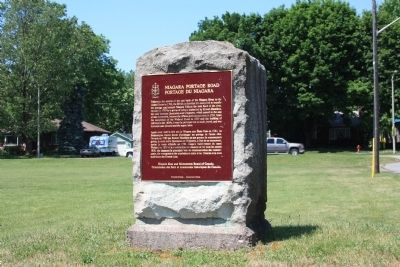 Niagara Portage Road Marker image. Click for full size.
