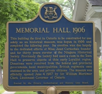 Memorial Hall, 1906 Marker image. Click for full size.
